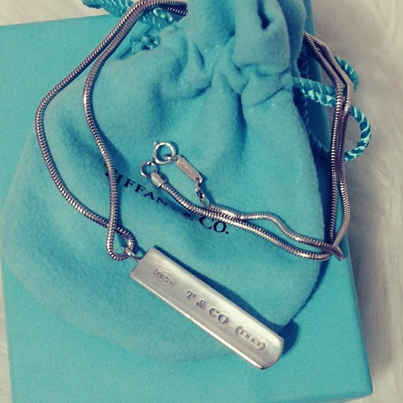 b9474dfc8 Tiffany & Co. Jewelry   Tiffany Co 1837 Bar Pendant With Snake Chain ...